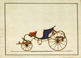 Hintó rajza a Károlyi levéltár anyagából, 18. század. MNL OL T 20 – No. 87/3.