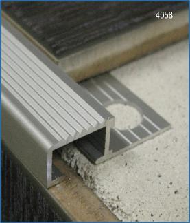 Nez De Marche Descalier Carrelage Aluminium Antidrapant