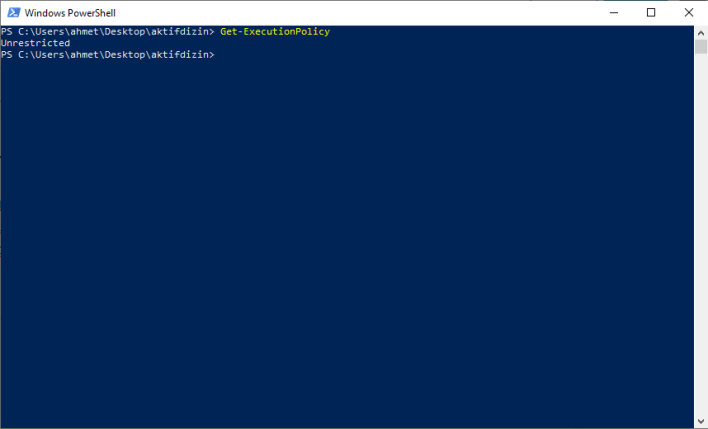 PowerShell Get-ExecutionPolicy Komutu