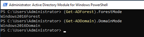 Powershell Active Directory Domain ve Forest Function Levels