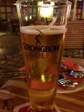 Ein Strongbow Gold... schmeckt richtig gut.