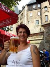 Ein Hasseröder-Bier auf den Schloss-terrassen, was braucht Frau in diesem Augenblick mehr :D