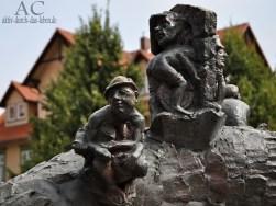 Detailaufnahme vom Brunnen auf dem Nikolaiplatz
