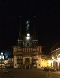 Das schöne Rathaus bei Nacht