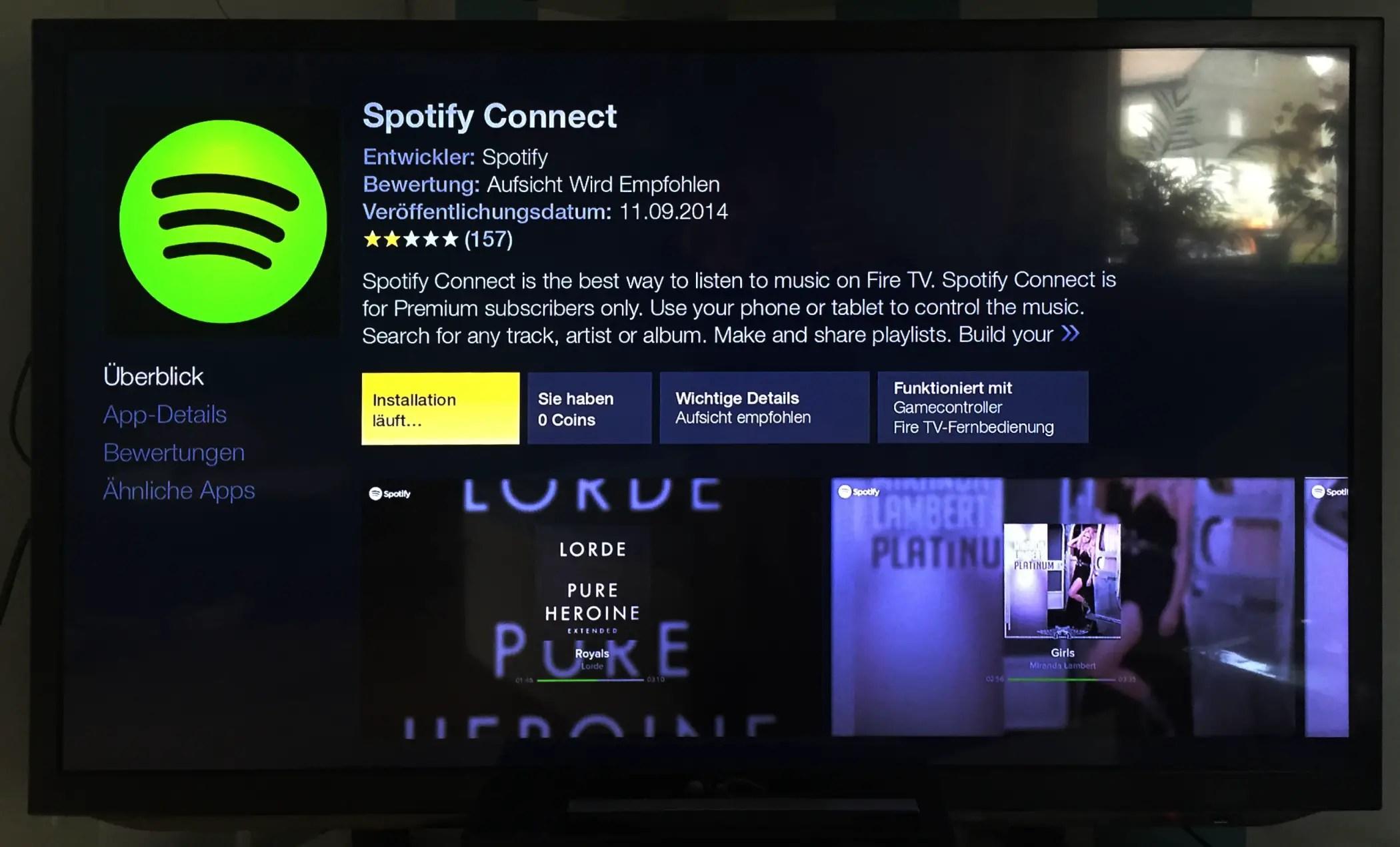 Da ist es also. Spotify geht nur mit Premium-Account.