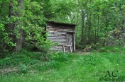 Kleine Hütte am See