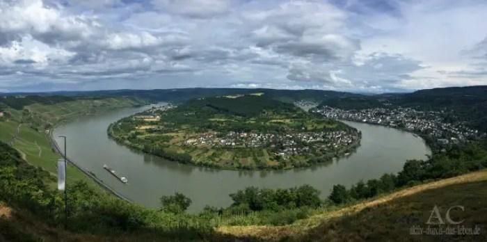 Wunderbarer Blick auf die Rheinschleife vom Gedeonseck