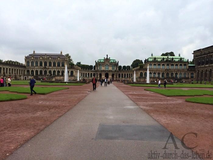 Eines der bekanntesten Barock-Bauwerke Deutschlands, der Dresdner Zwinger