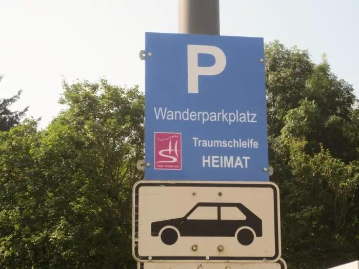 Traumschleife Heimat Parkplatz