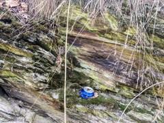 Fein säuberich abgestellt im Fels :-(