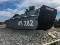 Monument zur Erinnerung an die Landung der US-Truppen 1944