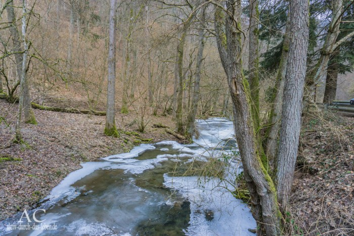 Traumschleife Baybachklamm Baybach Winter