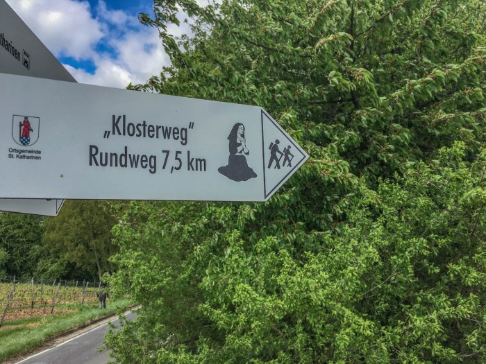 Klosterweg St. Katharinen Schild