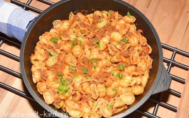 Die beste One Pot Taco Pasta mit Käse als herrliches Soulfood