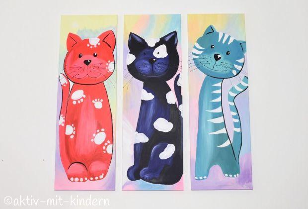 Unsere Wandbilder mit Katze für das Kinderzimmer von Bimago