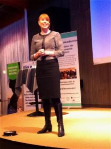 Annie Lööf träffade företagare på hemmaplan.