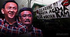 Kampanye Ahok-Djarot Ditolak Warga. (ilustrasi/aktual.com)