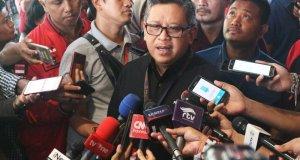 Sekjen PDI Perjuangan Hasto Kristiyanto usai penutupan Kongres V PDIP di Bali, Sabtu (10/8)