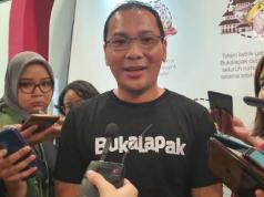 CEO Bukalapak Rachmat Kaimuddin saat diwawancarai media usai Perayaan 10 Tahun Bukalapak, Jumat (10/1/2010). (Liputan6.com/ Agustin Setyo W)