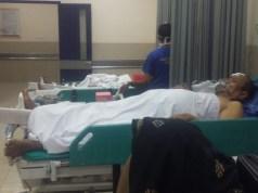 Korban luka kecelakaan lalu lintas di Tol Cipali mendapat perawatan intensif di RS Mitra Plumbon. (Istimewa)
