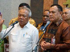 Ketua KPK Komjen Firli Bahuri (kanan) dan Menteri PUPR Basuki Hadimuljono saat melakukan pertemuan. Foto: Dok Humas KPK.