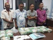Badan Narkotika Nasional (BNN) bekerjasama dengan Bea dan Cukai Aceh dan Sumatera Utara menangkap penyeludup 33 kg sabu. (ANTARA/HO)