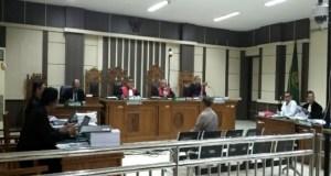 Pengusaha jasa konstruksi asal Kabupaten Demak, Noer Halim, saat diperiksa sebagai sakai di Pengadilan Tipikor Semarang, Senin.