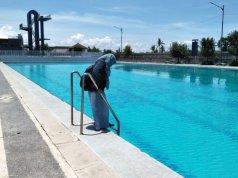 MWP (Mataram water prak) yang berada di belakang tugu Bumi Gora Jalan Udayana, Kota Mataram, Nusa Tenggara Barat, masih dibuka gratis untuk masyarakat umum. (Foto: ANTARA News/Nirkomala)