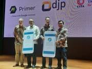 Managing Director Google Indonesia Randy Jusuf (kedua kanan) bersama narasumber lain pada acara Peluncuran Grow with Google di Perpustakaan Nasional, Jakarta, Selasa (18/2/2020). (FOTO ANTARA/Katriana)