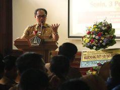 Wakil Bupati Badung I Ketut Suiasa saat membuka Musrenbang Kecamatan Kuta Selatan di ruang pertemuan kantor Camat Kuta Selatan