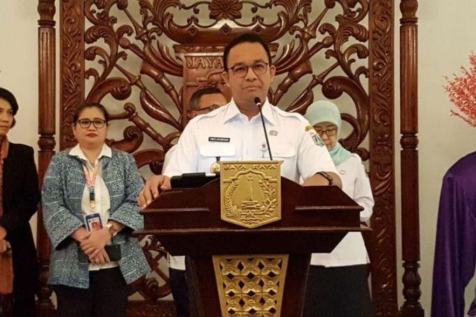 Gubernur DKI Jakarta Anies Baswedan di Balai Kota DKI Jakarta