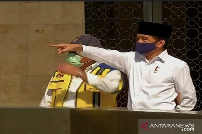Tinjau Kesiapan Istiqlal, Jokowi Mungkinkan Dibuka Kembali Mulai Bulan Depan