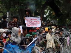 Aksi protes menolak Omnibus Law UU Cipta Kerja