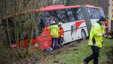 Photo of Bus kommt von der Fahrbahn ab – Fahrer tot