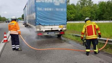 Photo of Heißgelaufene Bremse – Feuerwehr leistet erste Hilfe