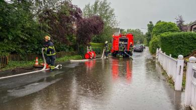 Bild von Gewitter mit Starkregen sorgt für 70 wetterbedingte Einsätze der Feuerwehr im Südwesten der Stadt