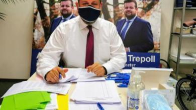 Bild von André Trepoll als Ortsvorsitzender bestätigt