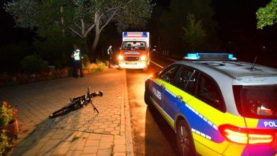 Bild von Radfahrer auf der Francoper Straße angefahren