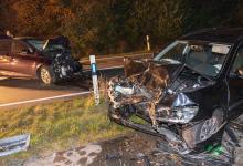Bild von Fünf Verletzte bei Frontalzusammenstoß zwischen PKW und E-Auto