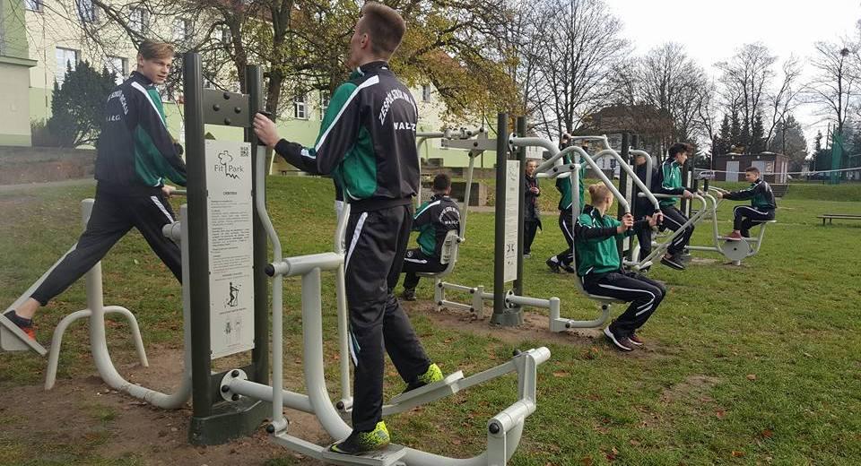 Zielona siłownia przy Zespole Szkół nr 4 RCKU w Wałczu
