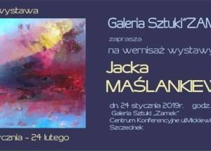 Galeria Sztuki przy Centrum Konferencyjne ZAMEK zaprasza na wernisaż wystawy malarstwa pana Jacka Maślankiewicza.