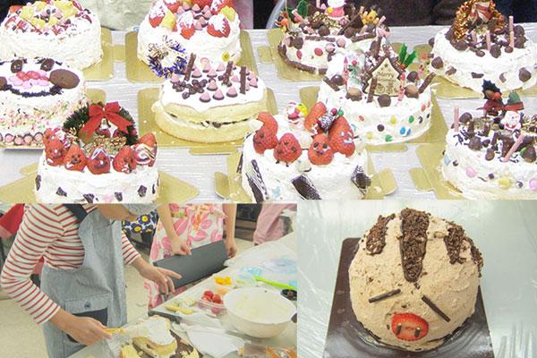 ケーキを作る