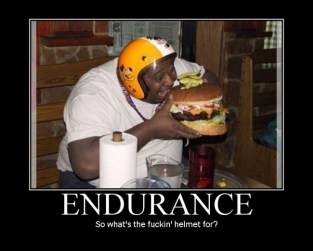 So what's the fucking' helmet for?