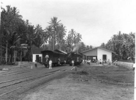 Stasiun Kereta Payakumbuh sekitar tahun 1900