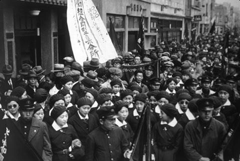 Demonstrasi para buruh di Jepang, memperingati May Day
