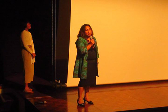 Ibu Marcia Soumokil, dari RTI International - USAID, memberikan kata sambutan.