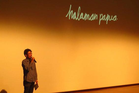 Hafiz Rancajale, Direktur Forum Lenteng, memberikan kata sambutan.