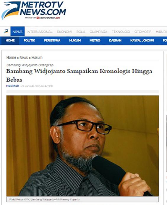 Artikel di Metro TV News.