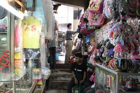 Mr. Haji Rohim's kiosk which sold various women's and children's accessories.