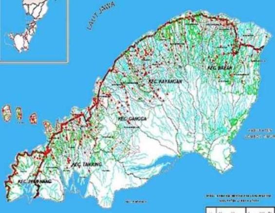 Map of North Lombok Region.